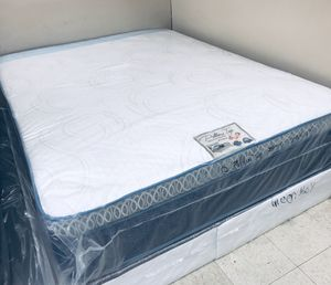 QUEEN PILLOW TOP ORTHOPEDIC SOFT COMFORTABLE 14 INCHES MATTRESS AND BOX SPRING BRAND NEW for Sale in Boston, MA