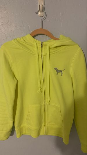 Juniors XS Yellow Jacket with Hoodie from Pink for Sale in Las Vegas, NV