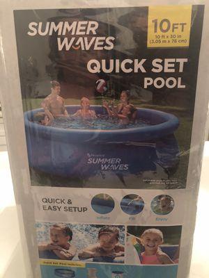 Summer waves 10ft x 30 quick set pool BRAND NEW for Sale in Sicklerville, NJ