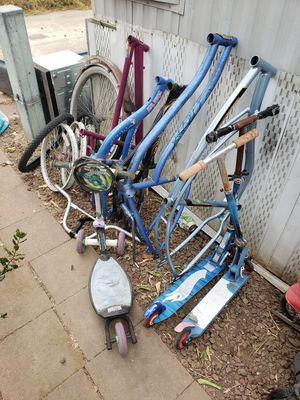 Bike parts $5 and up - BMX Mountain Road MTB Beach Cruiser Low Rider Scooters for Sale in Stockton, CA