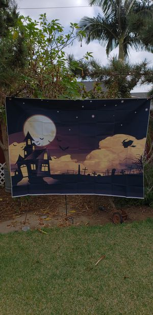 New Halloween backdrop 7ftx5ft for Sale in Whittier, CA