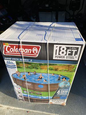 Brand New Coleman 18ft steel framed pool for Sale in Lorton, VA