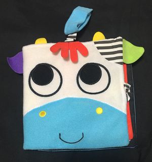 Sassy soft cloth child/baby book with wristband for Sale in Lancaster, OH