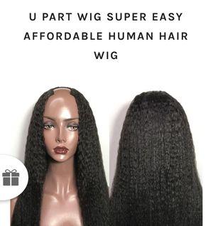 u part kinky straight wig for Sale in Atlanta, GA