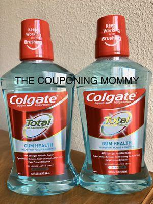 Oral Care Bundle w/ Colgate Total Gum Health Mouthwash (( 2 bottles )) for Sale in Clovis, CA