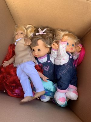 Three dolls for sale for Sale in Annandale, VA