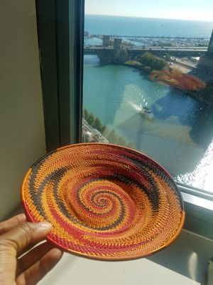 Vintage AFRICAN Woven Art Plate for Sale in Chicago, IL