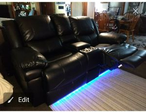 Leather light up love seat recliner (5 colors) for Sale in Lake Wales, FL