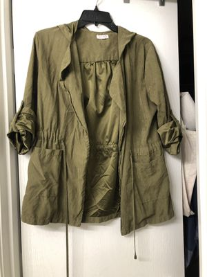Agaci Olive Jacket Size Small With Hoodie for Sale in Del Valle, TX
