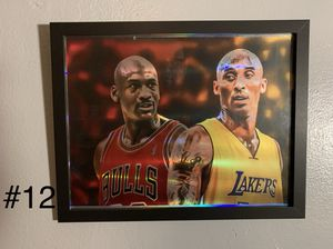 Sports holographic cubs bears white Sox blackhawks Jordan Kobe lebron frames 8.5x11 for Sale in Chicago, IL