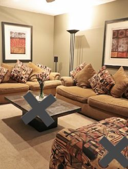 (2) Comfy Woven Cloth Couches for Sale in New Port Richey,  FL
