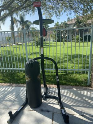 120bl/home gym/Punching bag/speed bag/stand/new/Delivery for Sale in Corona, CA