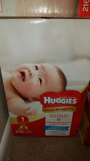 Huggies size 1 - 216 count price FIRM for Sale in Tomball, TX
