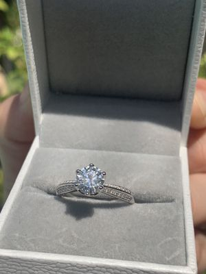 Moissanite engagement bridal wedding ring ✨ GUARANTEED TO PASS DIAMOND TEST 🌸 promise Ring for Sale in Las Vegas, NV