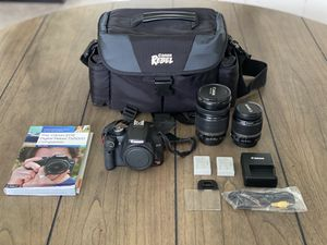 Canon Rebel T1i 18-200 and 18-55 camera lens plus extras!! for Sale in Hillsboro Beach, FL