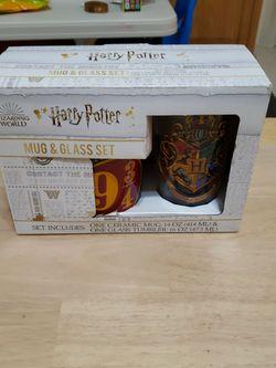 Harry Potter Mug & Glass Set Wizarding World for Sale in Fort Lauderdale,  FL