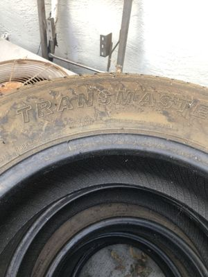 Trailer tires almost new in good condition best offer for Sale in Tracy, CA