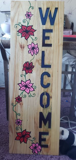 Resin/wood welcome sign for Sale in Waynesville, MO