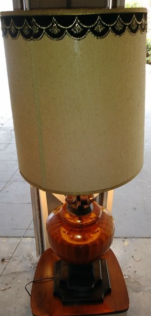 Vintage Glass and Wooden Base Lamp for Sale in Tampa, FL