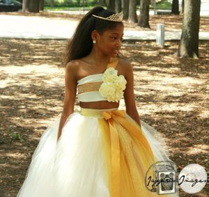 Flower girl dress, ivory and Gold tulle dress, tutu dress, junior bride dress, junior bride tutu, shabby chic flower dress, shabby chic flower tutu for Sale in Houston, TX