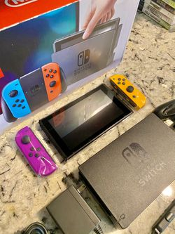 Nintendo Switch V2 With Purple And Orange Joycons  for Sale in Houston, TX