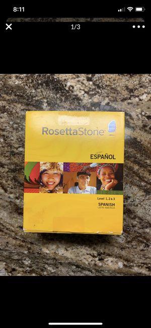 Rosetta Stone Spanish Level 1,2,3 Latin America for Sale in Scottsdale, AZ
