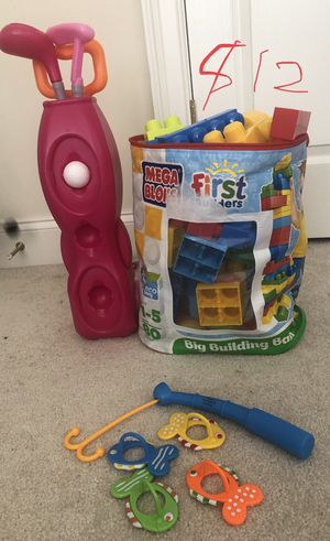 Building blocks, Fishing game, Kids golf play set for Sale in Ellicott City, MD