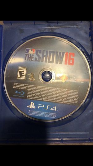 MLB The Show 2016 for PS4 for Sale in Acampo, CA