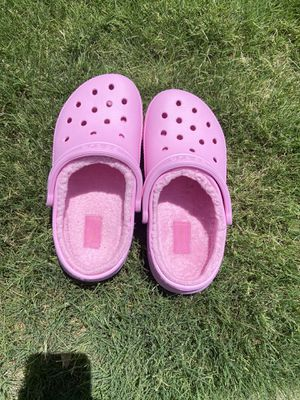 Hot Pink Fuzzy Crocs for Sale in Flower Mound, TX