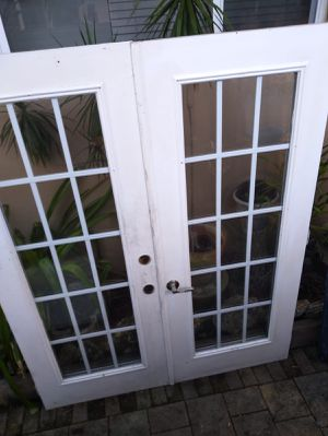 Doble Metal French Doors for Sale in Miami, FL