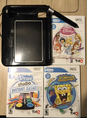 Nintendo Wii U drawl and 3 games for Sale in Spokane, WA