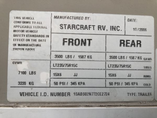2007 Starcraft Travel Star XLT UltraLite 21DSD