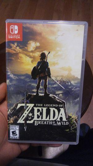 The legend of Zelda breath of the wild Nintendo switch for Sale in Dallas, TX