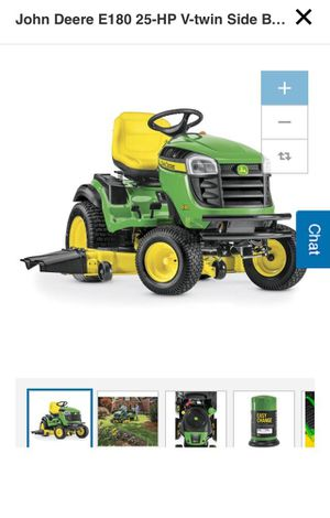 John Deere E180 25-HP V-Twin Side By Side Hydrostatic 54-in Riding Lawn mower with Mulching Capability for Sale in Brooklyn, NY
