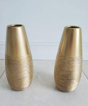 Set of 2 gold vases for Sale in Miami, FL
