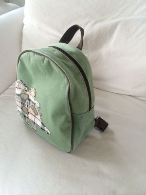 Pottery Barn kids green backpack with a dinosaur for Sale in Seattle, WA