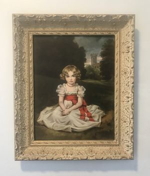 'LITTLE PRINCESS' HANS RICHARD VON VOLKMANN FRAMED LITHOGRAPH 1958 for Sale in Pittsburgh, PA