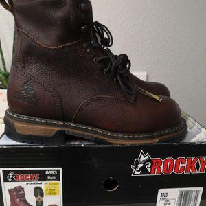 Brand new Rocky Steel toe Work boots Size 10 for Sale in Riverside, CA