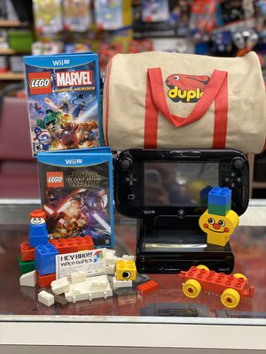 Nintendo Wii U with LEGO Marvel Super Heroes for Sale in Atascocita, TX