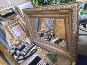 Large Gold Wall Accent Mirror for Sale in Portland, OR