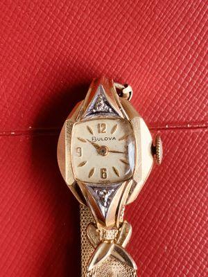 10k gold filled Bulova 17 jewels diamond watch for Sale in Las Vegas, NV