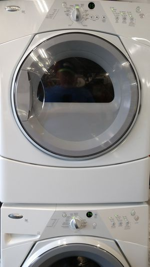 Whirlpool Duet Full Size Stacking Washer/Dryer w/ Stack Kit - Clean for Sale in Fife, WA