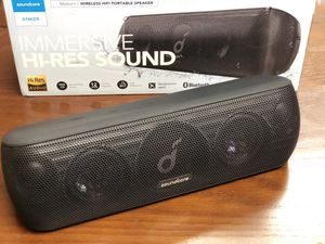 40%off Anker Soundcore Motion+ Bluetooth Speaker W/Hi-Res 30W Audio, Extended Bass and Treble, Wireless HiFi Portable Speaker with App, Customizable for Sale in Baldwin Park, CA