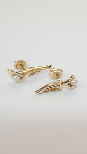 Synthetic Pearl Lily Earrings for Sale in San Diego, CA