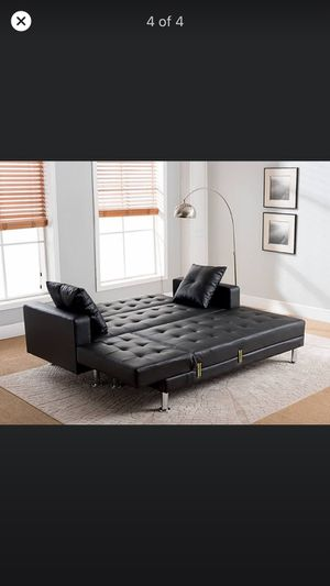 Leather futon for Sale in Tempe, AZ
