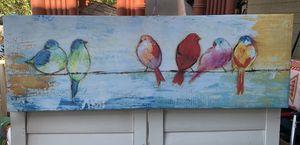 "36"" x 12"" Big Canvas bird print $24 for Sale in San Jose, CA"