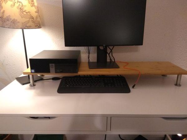 Pc riser desk shelf