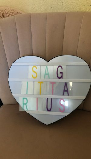 Heart shaped marquee light up box for Sale in Los Angeles, CA