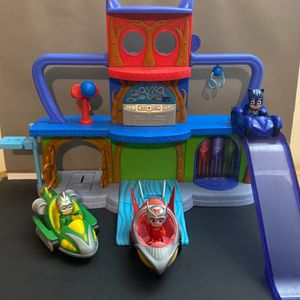 PJ Masks Headquarters Playset + 3 Figures & Cars for Sale in Magnolia, TX