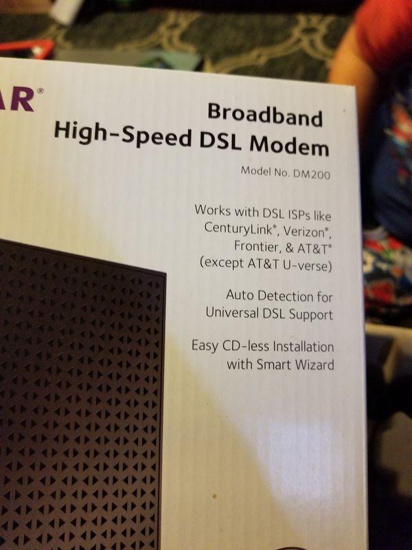 Netgear DM200 Broadband high-speed DSL Modem